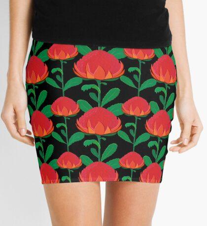 Australian Waratah pattern Mini Skirt