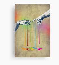 But deliver us from evil Canvas Print