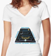 Expedition 52 Original Crew Mission Patch Women's Fitted V-Neck T-Shirt