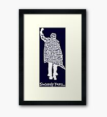 The Breakfast Club - Sincerely Yours - White Framed Print