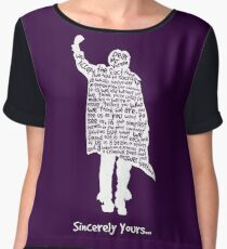 The Breakfast Club - Sincerely Yours - White Chiffon Top
