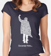 The Breakfast Club - Sincerely Yours - White Women's Fitted Scoop T-Shirt