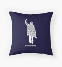 The Breakfast Club - Sincerely Yours - White Throw Pillow