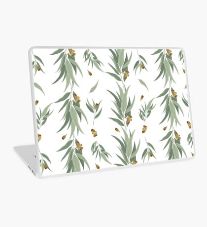 Floral pattern of eucalyptus leaves and seeds Laptop Skin