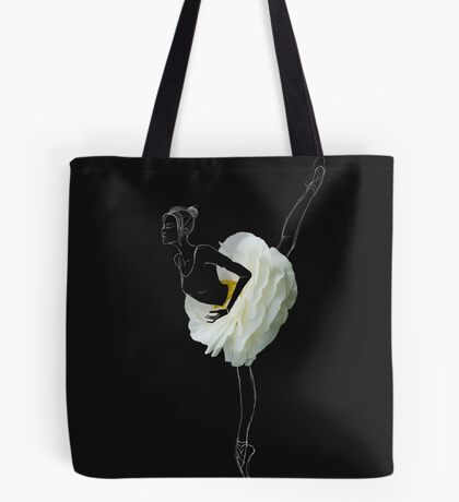 Ballerina in white flower skirt Tote Bag