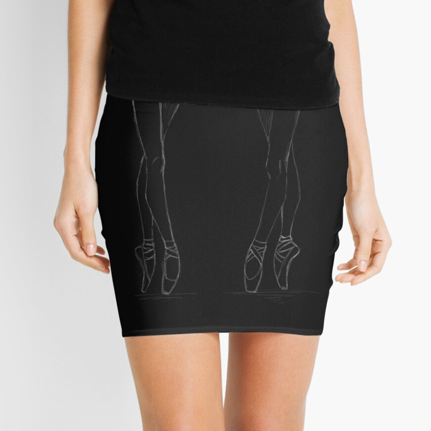 En pointes ballerinas Mini Skirt