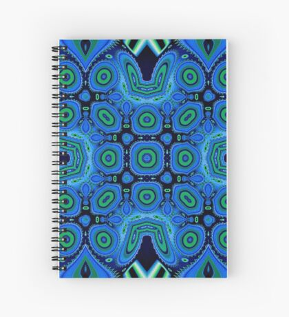 Diving Into The Blue Abstract  Spiral Notebook