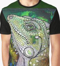 Green Iguana Graphic T-Shirt