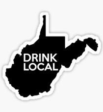 West Virginia Drink Local WV Sticker