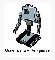 What is my Purpose? Photographic Print