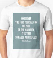 Mark Twain Quote Majority T-Shirt