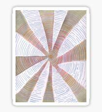 Blue, Red, Orange, Grey and White Spiral Sticker