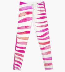 Pink Palm Leaf Leggings