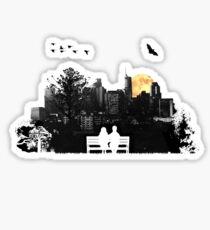 City Moonrise Sticker