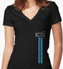 EPCOT Center Fountain (Vertical) Women's Fitted V-Neck T-Shirt
