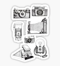 Vintage Camera Collection Sticker