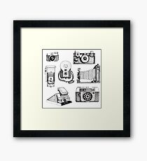 Vintage Camera Collection Framed Print
