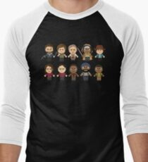 The Walking Dead - Main Characters Chibi - AMC Walking Dead Men's Baseball ¾ T-Shirt