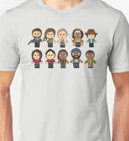 The Walking Dead - Main Characters Chibi - AMC Walking Dead Unisex T-Shirt