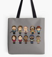 The Walking Dead - Main Characters Chibi - AMC Walking Dead Tote Bag
