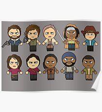 The Walking Dead - Main Characters Chibi - AMC Walking Dead Poster