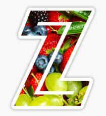 The Letter Z - Fruit Sticker