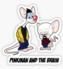 Pinkman and the brain - Breaking Bad/ Pinky and the brain Sticker