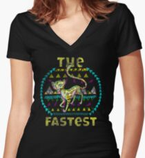 Fastest  Women's Fitted V-Neck T-Shirt