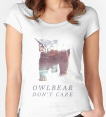 Owlbear Don't Care Women's Fitted Scoop T-Shirt