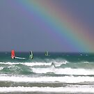 Board Sailing with Rainbows by robmac