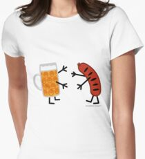 Beer & Bratwurst - Funny Friendly Foods Womens Fitted T-Shirt