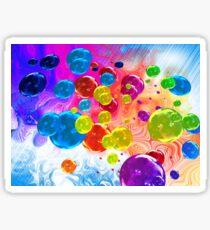 When Rainbows Melt Into Bubbles Sticker