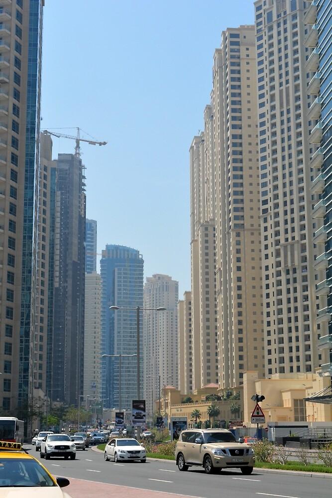 Photography of tall buildings from Dubai. United Arab Emirates. by oanaunciuleanu