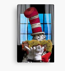 Cat In The Hat With His Moss-Covered Three-Handled Family Credenza Canvas Print