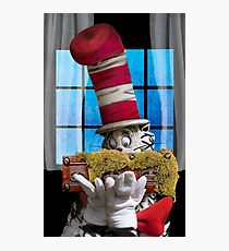 Cat In The Hat With His Moss-Covered Three-Handled Family Credenza Photographic Print
