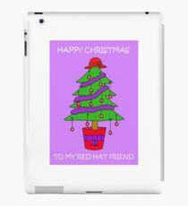 Red Hat Lady Happy Christmas iPad Case/Skin