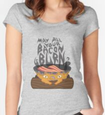 May All Your Bacon Burn Women's Fitted Scoop T-Shirt