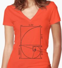 The Golden Spiral Women's Fitted V-Neck T-Shirt