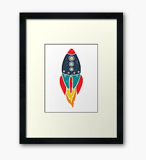 Space Rocket Framed Print