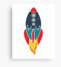 Space Rocket Canvas Print