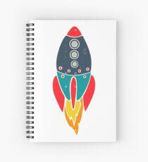 Space Rocket Spiral Notebook