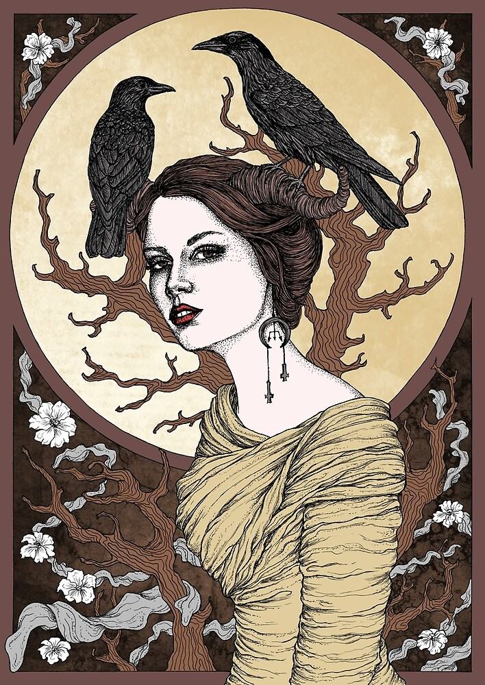 Girl with the crows by poisontree