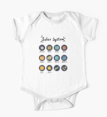 Solar System Planets Short Sleeve Baby One-Piece