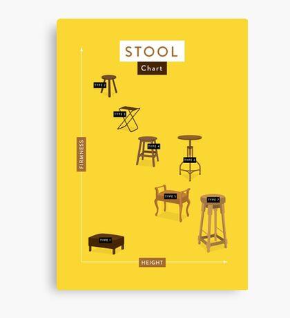 Stool Chart Canvas Print