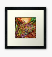 Iguana Hot Framed Print