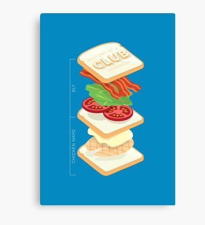 Anatomy of a Club Sandwich Canvas Print