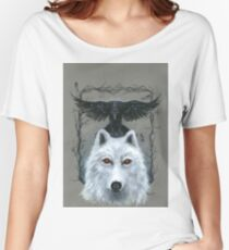 Ghost And The Three-Eyed Raven Women's Relaxed Fit T-Shirt
