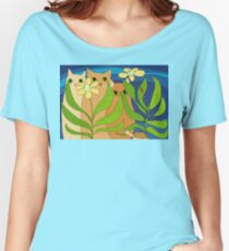 Three Cats, Two Flowers, One Snail and A Ladybug Women's Relaxed Fit T-Shirt