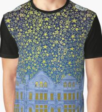 Cookes Building Starry Night Graphic T-Shirt