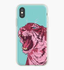 Magenta tiger iPhone Case